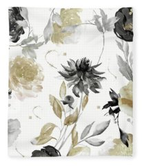 Shelby Gold And Black Fleece Blanket