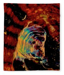 Shell Space Fleece Blanket
