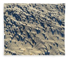 Sand, Shells And Shadows Fleece Blanket