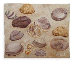 Shells And Stones Fleece Blanket