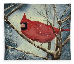 Shelly's Cardinal Fleece Blanket