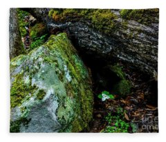 Sheltered By The Rock Fleece Blanket