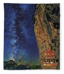 Sheltered From The Vastness Fleece Blanket