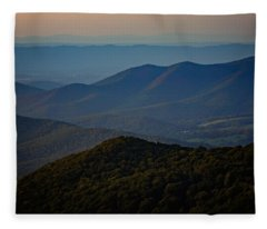Shenandoah Valley At Sunset Fleece Blanket