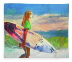 She's An Endless Summer Fleece Blanket