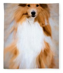 Shetland Sheepdog - Sheltie Fleece Blanket