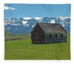 Abandoned House Fleece Blankets