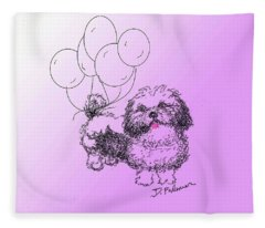 Shih Tzu Fleece Blanket