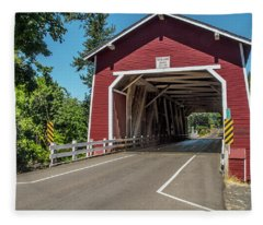 Shimanek Covered Bridge Fleece Blanket