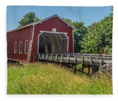 Shimanek Covered Bridge No. 2 Fleece Blanket