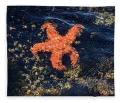 Shimmering Starfish Fleece Blanket