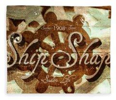 Ship Shape 1908 Fleece Blanket