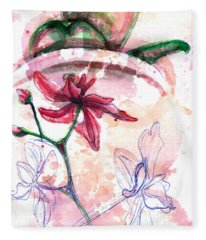 Shiraz Orchid II Fleece Blanket