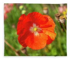 Shirley Poppy 2018-10 Fleece Blanket