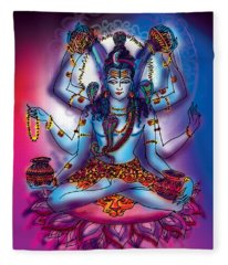 Shiva Abhishek  Fleece Blanket
