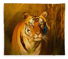 Shiva - Painting Fleece Blanket