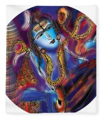 Shiva Playing The Drums Fleece Blanket