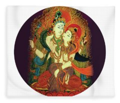 Shiva Shakti Fleece Blanket