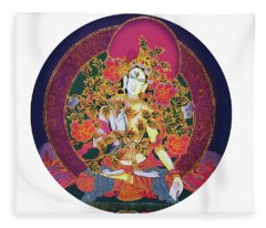 Shiva Shakti Yin And Yang Fleece Blanket