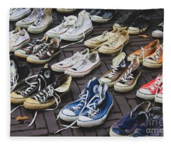 Shoes At A Flea Market Fleece Blanket