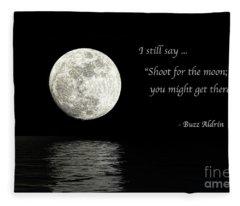 Shoot For The Moon Fleece Blanket
