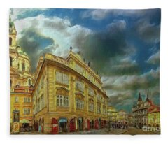 Shooting Round The Corner - Prague Fleece Blanket