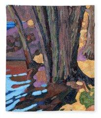 Shoreline Maples Fleece Blanket