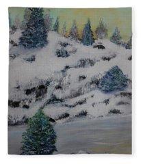 Shoreline Winter Fleece Blanket