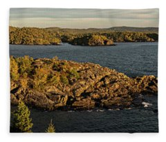 Shores Of Pukaskwa Fleece Blanket