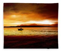 Shores Of The Soul Fleece Blanket