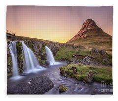 Short Summernights Of Eternal Twilight Fleece Blanket