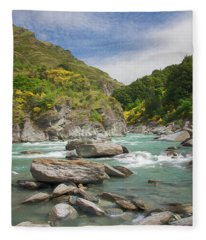 Shotover River Rapids New Zealand II Fleece Blanket