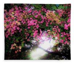 Shower Tree Flowers And Hawaii Sunset Fleece Blanket