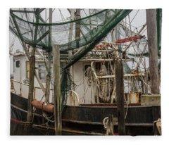 Shrimp Boat Alabama  Fleece Blanket
