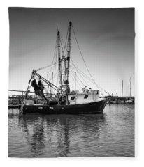 Shrimp Boat Fleece Blanket