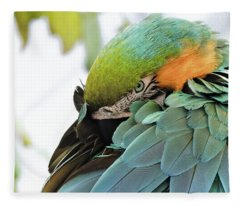 Shy Macaw Fleece Blanket
