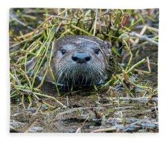 Shy River Otter Fleece Blanket