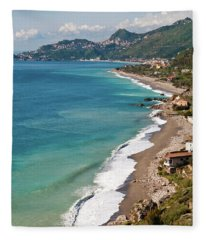 Sicilian Sea Sound Fleece Blanket
