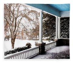 Side Porch Fleece Blanket
