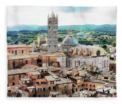 Siena Duomo From The Torre Del Mangia Fleece Blanket