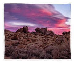 Sierra Clouds At Sunset Fleece Blanket