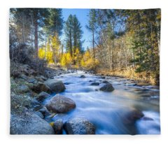 Sierra Mountain Stream Fleece Blanket