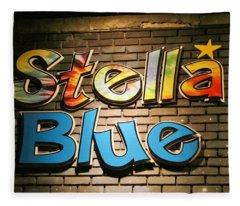 Sign Of Stella Blue Fleece Blanket