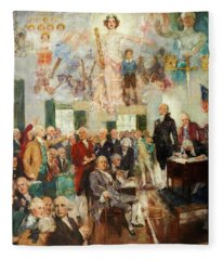 Signing Of The Constitution Fleece Blanket