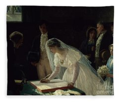 Signing The Register Fleece Blanket