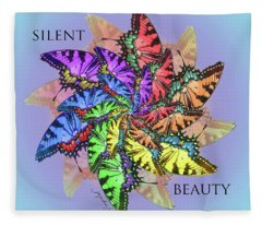 Silent Beauty Fleece Blanket
