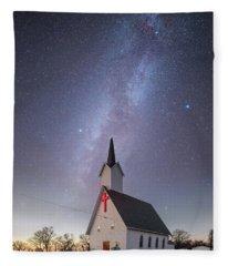 Silent Night  Fleece Blanket