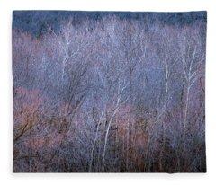 Silent Trees Fleece Blanket