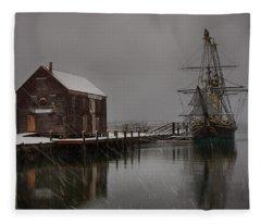 Silently The Snow Falls. Fleece Blanket