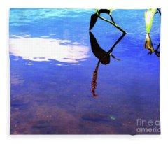 Silhouette Aquatic Fish Fleece Blanket
